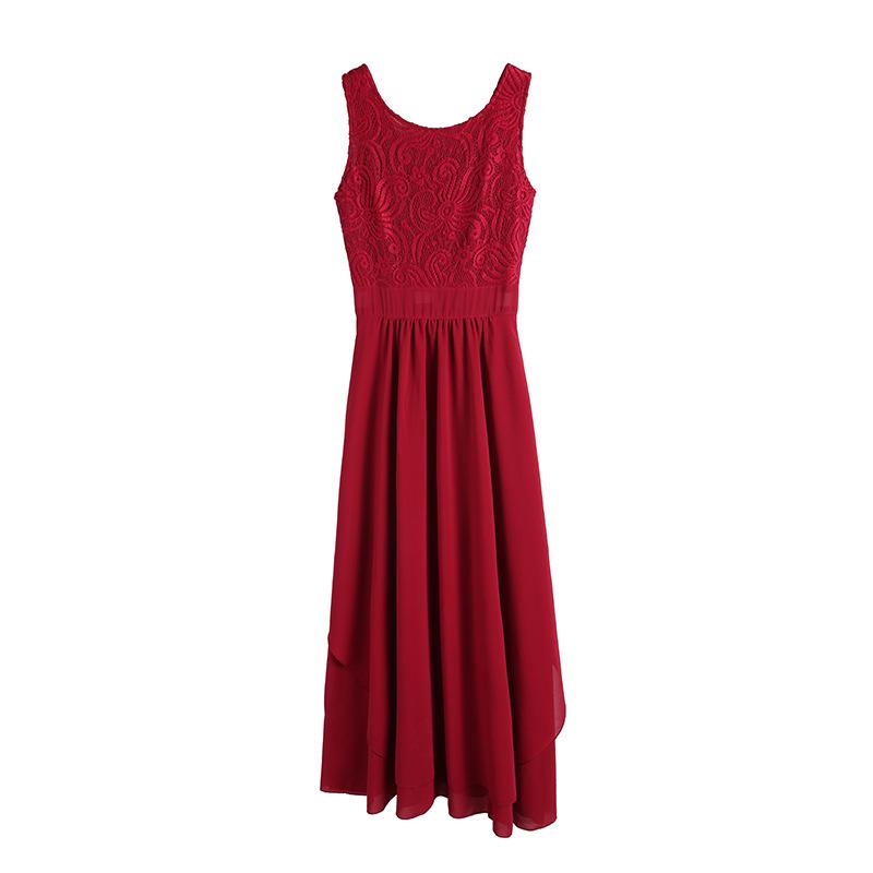 Dresses Lace dress with irregular hem