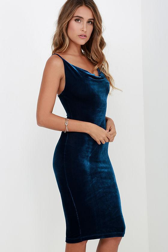 Dresses Navy Blue / M sexy women's cocktail party dress