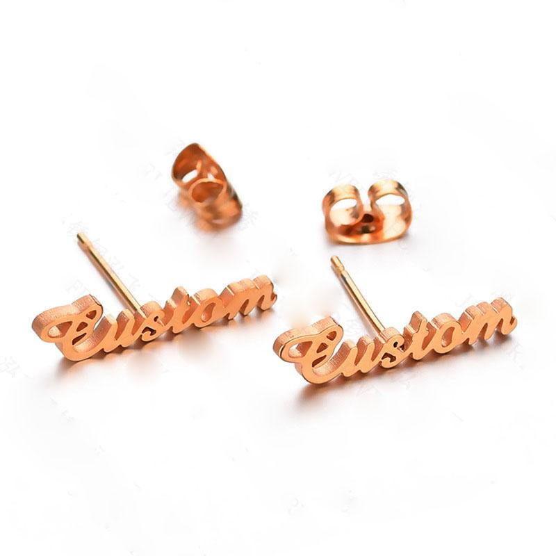 Earrings Rose Gold Custom Name Earrings