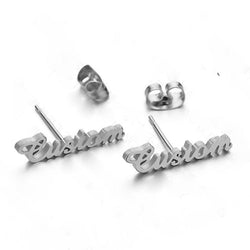 Earrings Silver Custom Name Earrings