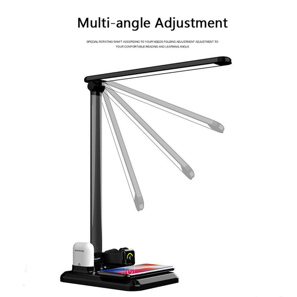 Electronics 4 in 1 LED Desk Lamp Light Qi Wireless Charger