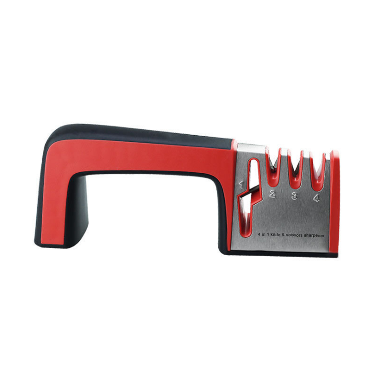 Home Decor Black and red Kitchen fast knife sharpener