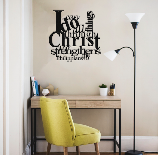 Home Decor Philippians 4:13 - Metal Wall Decor