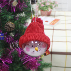 Home Decor Red Christmas ball creative Christmas Snowman children toys
