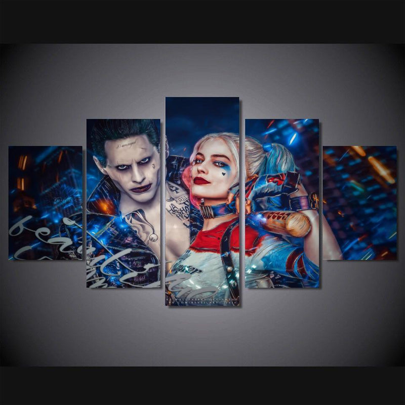 Home Decor With frame / Size 1 The harley quinn & Joker canvas