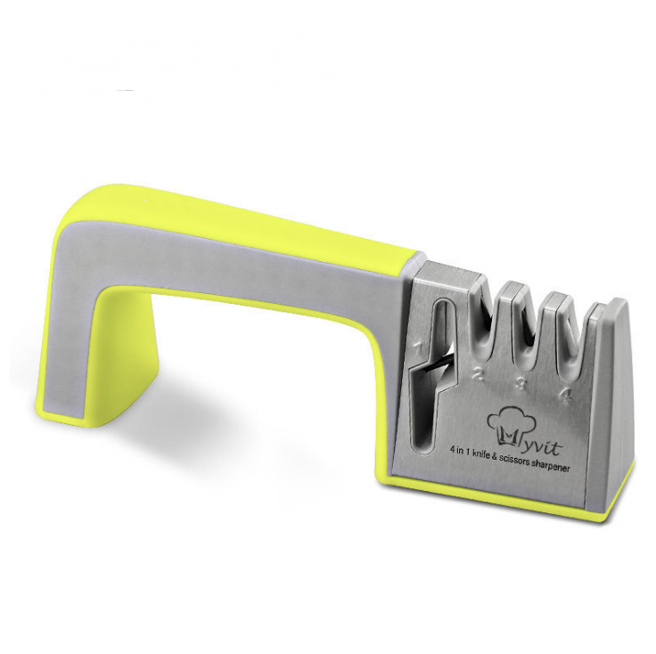Home Decor Yellow green Kitchen fast knife sharpener