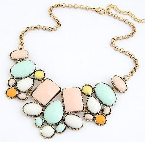 Jewelry Color Fashion metal luxury necklace