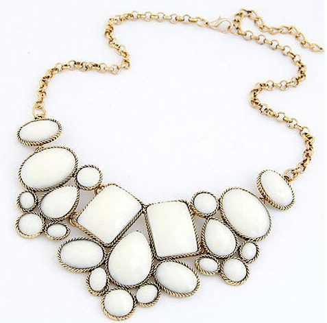 Jewelry White Fashion metal luxury necklace