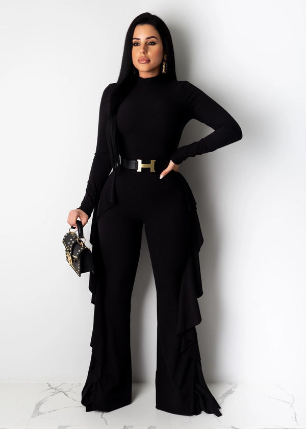 Jumpsuits & Rompers Ruffled wide-legged trousers