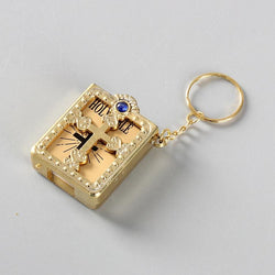 Key Chain Golden Mini Pocket Edition Bible Keychain