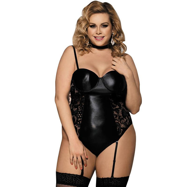 Lingerie XL Lace Leather Gartered