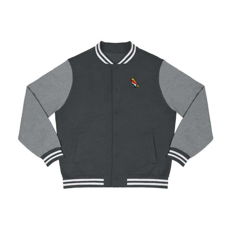 Long-sleeve XS / Graphite Heather/Vintage Heather S Factor Enterprise Men's Varsity Jacket