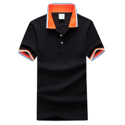 Men Fashion Black / S Men's Daily Sports Plus Size Slim Polo -