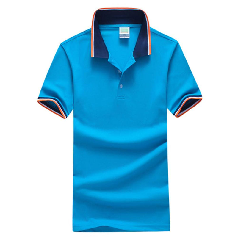 Men Fashion Blue / S Men's Daily Sports Plus Size Slim Polo -