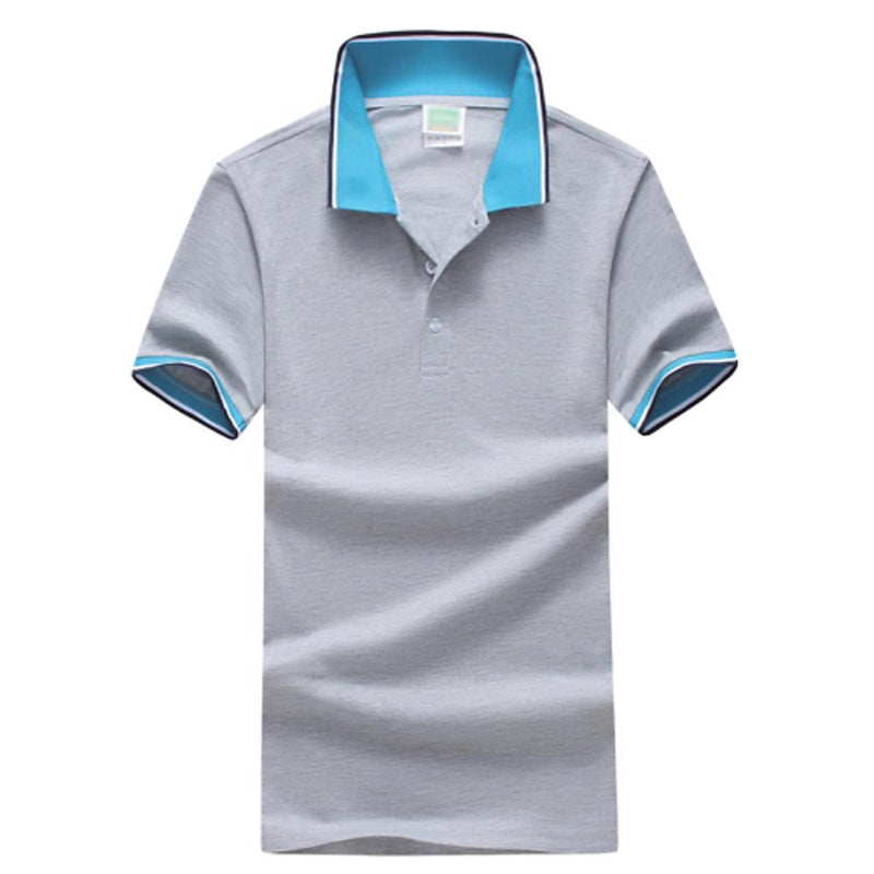 Men Fashion Gray / S Men's Daily Sports Plus Size Slim Polo -