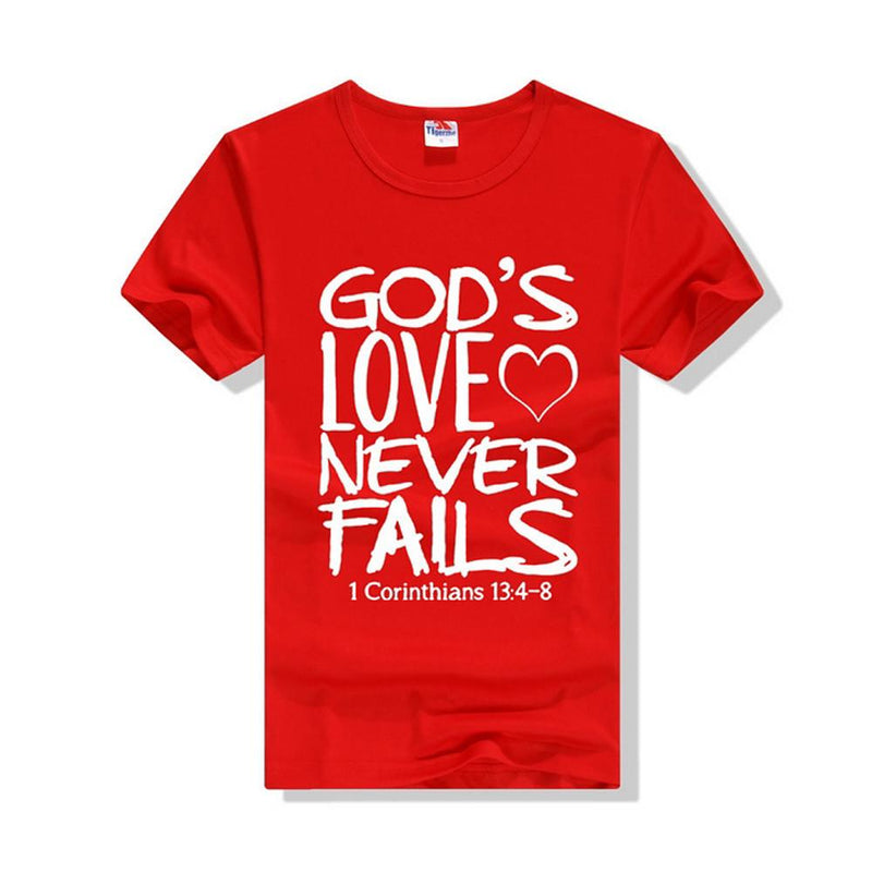Men Fashion Red / M God's Love T