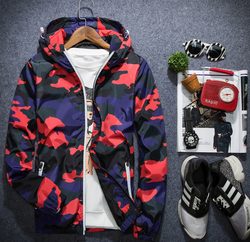 Men Fashion Red / XL Camouflage Mens Jacket