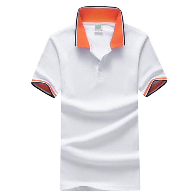 Men Fashion White / S Men's Daily Sports Plus Size Slim Polo -