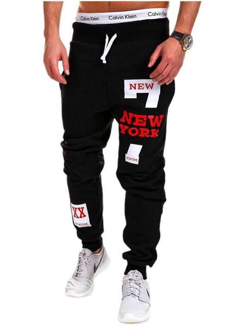Men's Clothing Black red / M Mens Joggers