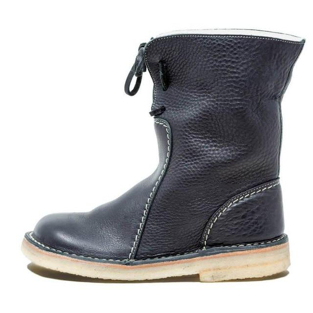 Men Shoes Black / 41 Round toe snow boots
