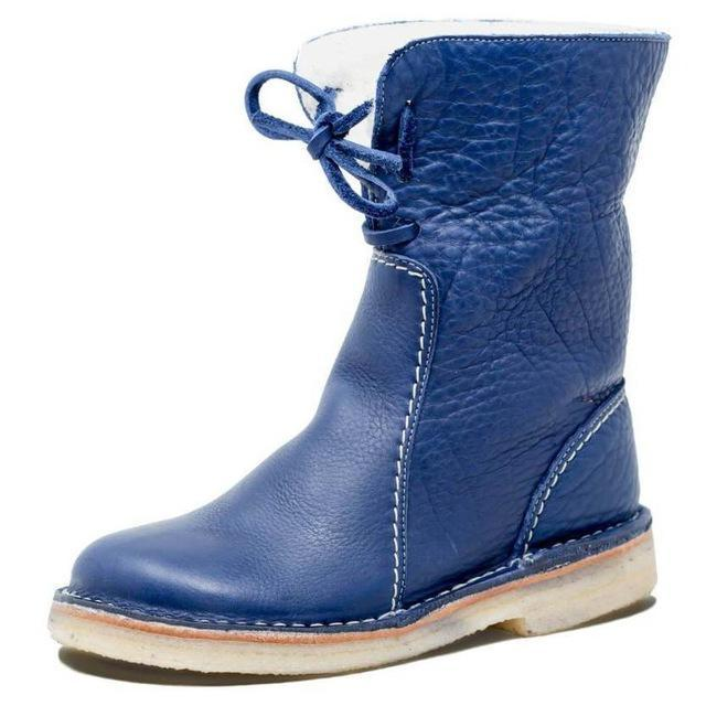 Men Shoes Blue / 42 Round toe snow boots