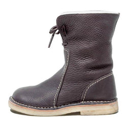 Men Shoes Brown / 39 Round toe snow boots