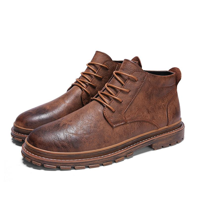 Men Shoes Brown / 42 LEROY LEATHER BOOTS
