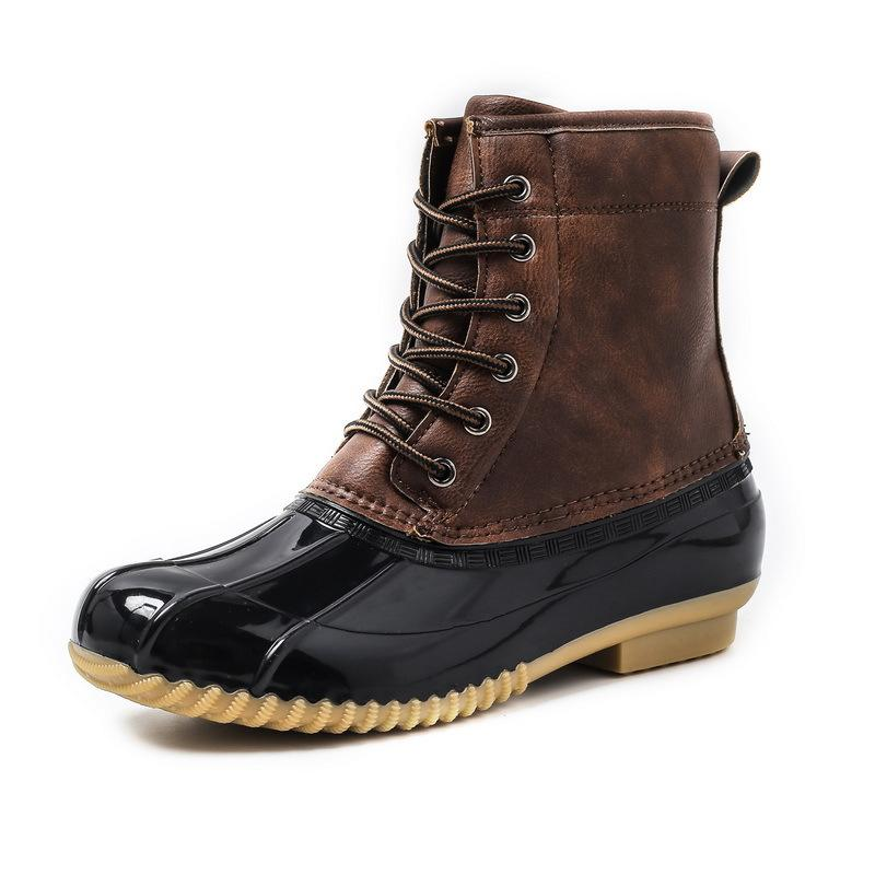 Men Shoes Brown / 42 Waterproof non-slip boots