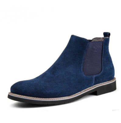 Men Shoes Navy Blue with fur / 44 Warm cotton shoes