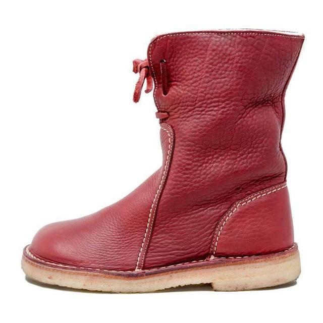 Men Shoes Red / 37 Round toe snow boots