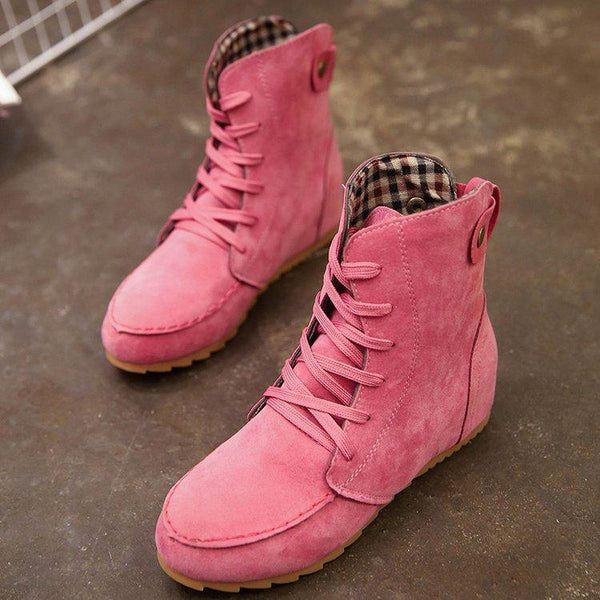 Men Shoes Watermelon / 41 Flat bottom strap fastening boots