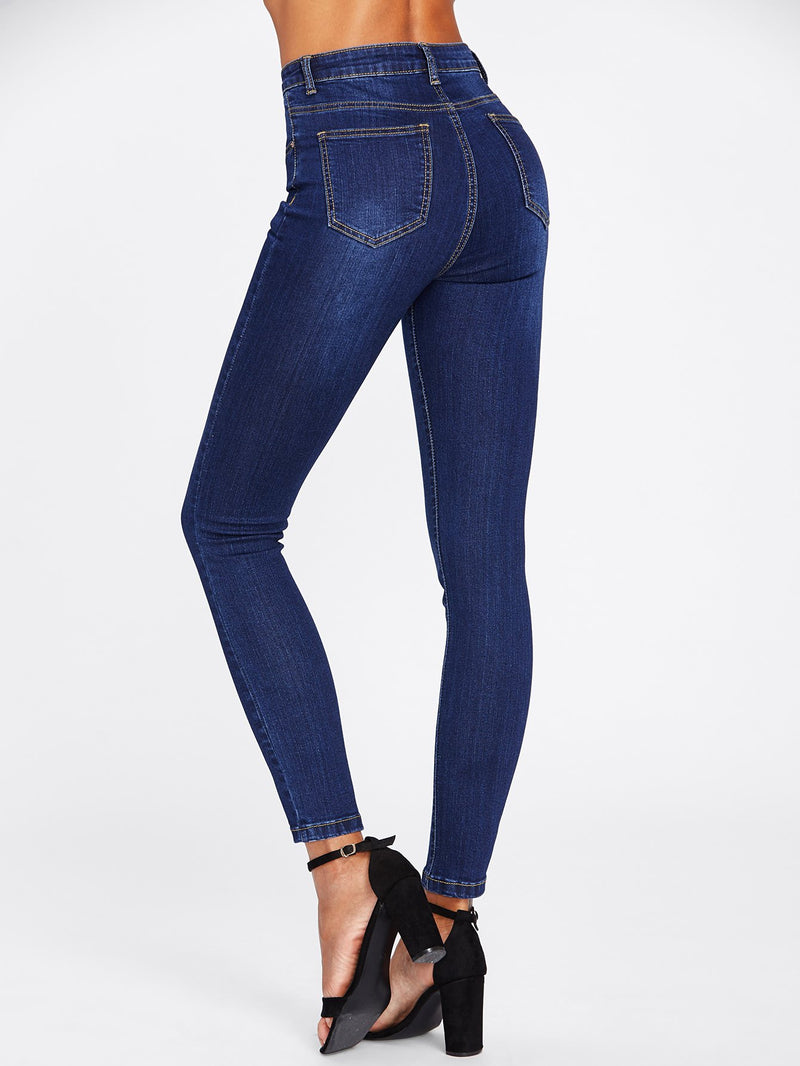 Pants Dark Wash Skinny Jeans