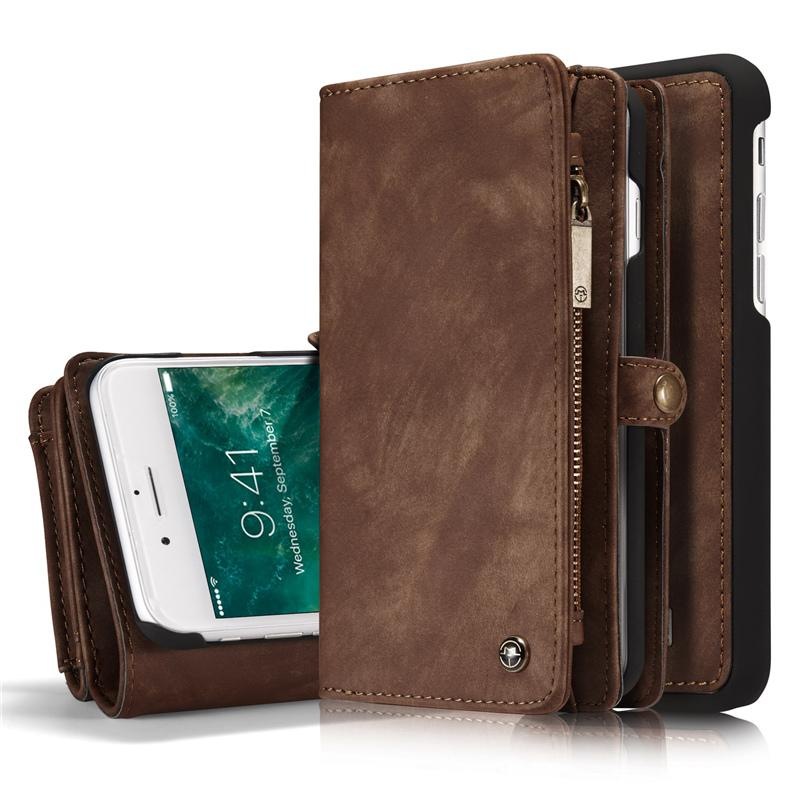 Phone Case Brown / iPhone8 Multifunctional protective sleeve