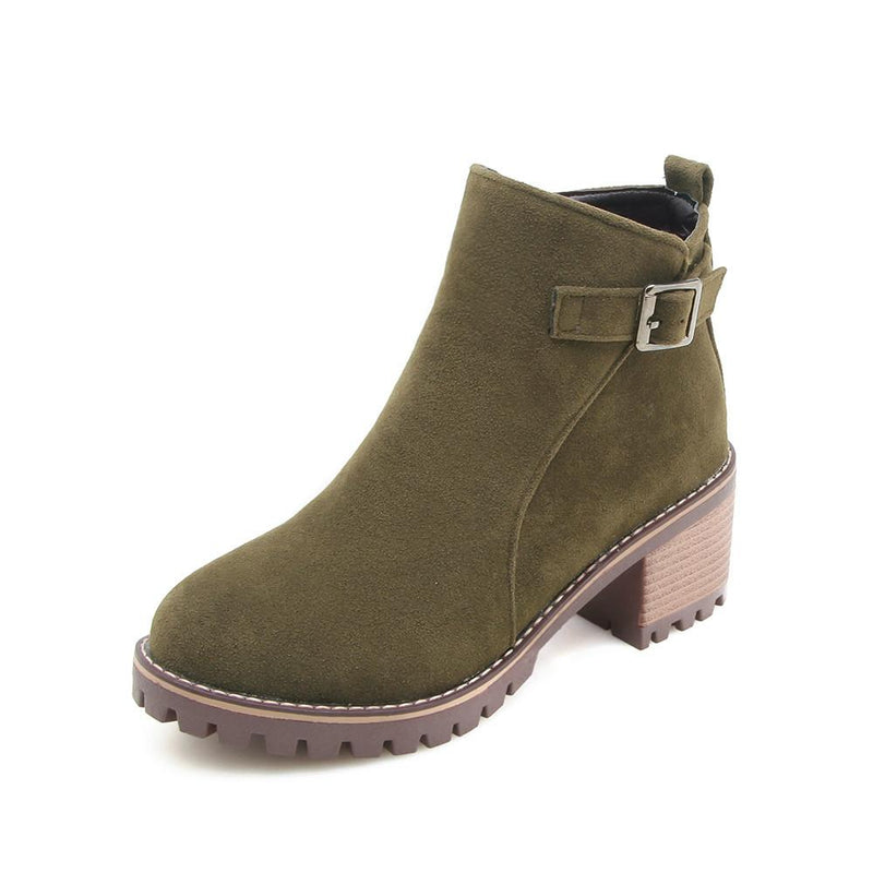 shoes Army Green / 41 Fashion wild short boots