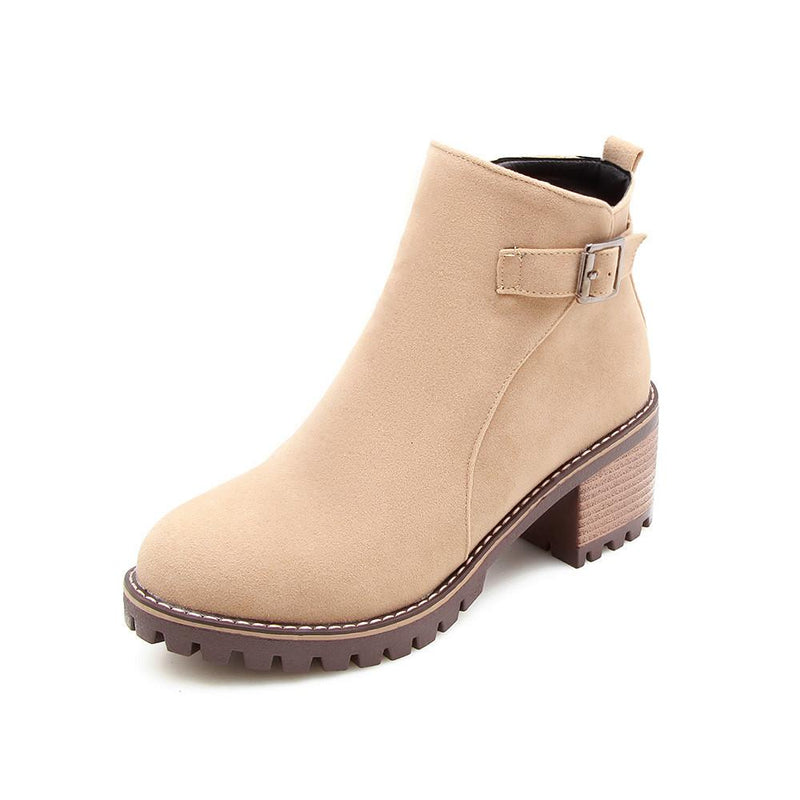 shoes Beige / 38 Fashion wild short boots