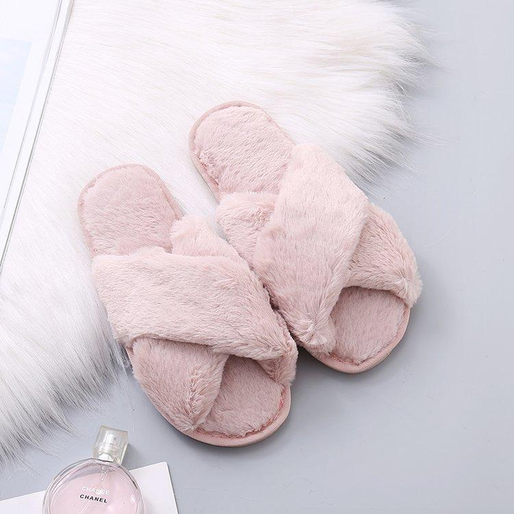shoes Pink / 40-41 Cozy home furry slippers