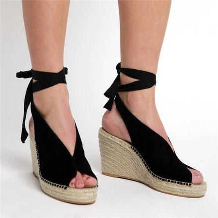 shoes Straw wedge heel strap sandals