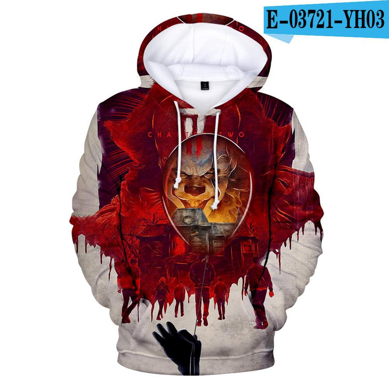 Sweater C / XL Printed 3D hooded sweater