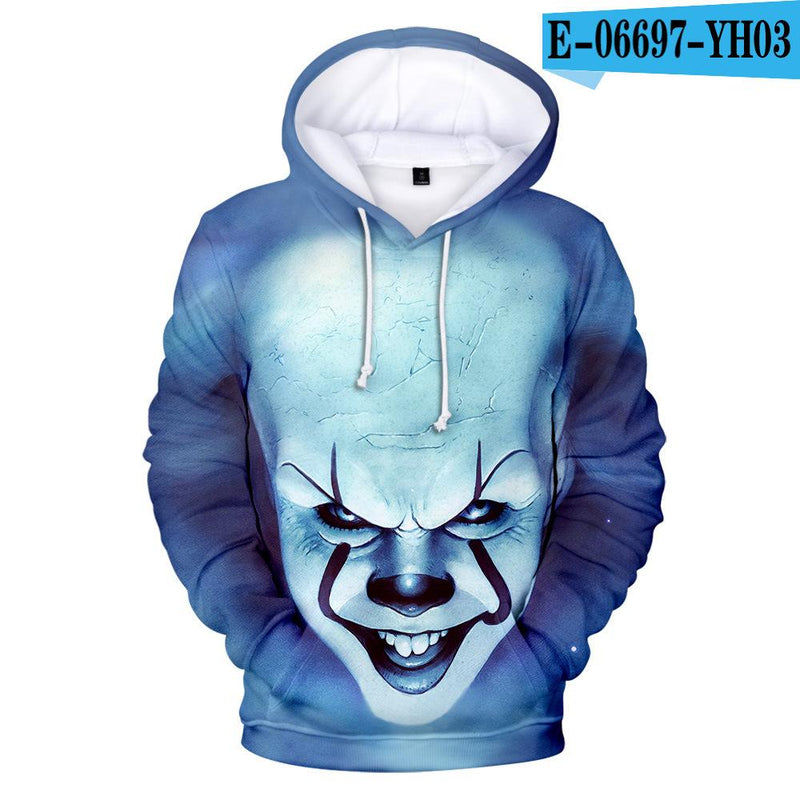 Sweater F / XXL Printed 3D hooded sweater