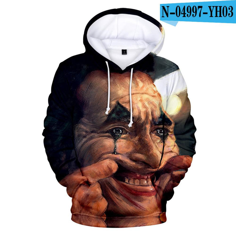 Sweater H / XL Printed 3D hooded sweater