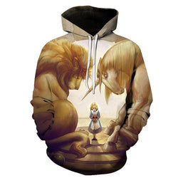 Sweater LMS071 / M 3d hoodie print pullover sweater