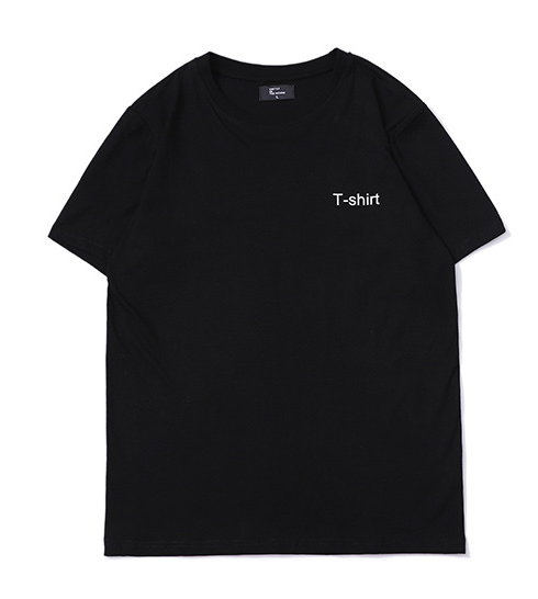 T-Shirt Black / M slogan printed men's loose T-shirt