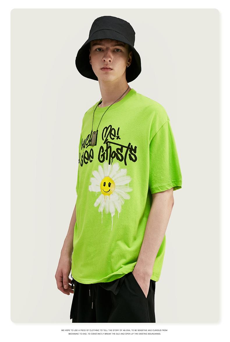 T-Shirt Graffiti Daisy Smiley Short Sleeve
