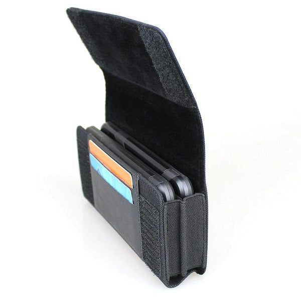 Wallet Blue Double cell phone belt bag