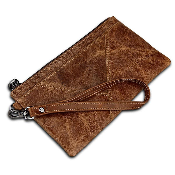 Wallet Brown anti-theft brush RFID wallet