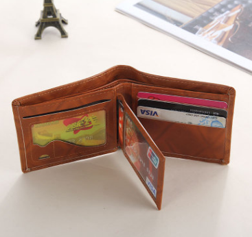 Wallet new Pu leather men's short wallet
