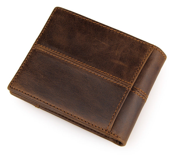 Wallet short real leather purse