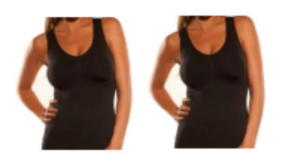 Women Clothing 2Black / S 2 Units Tank Top and Cami Shaper