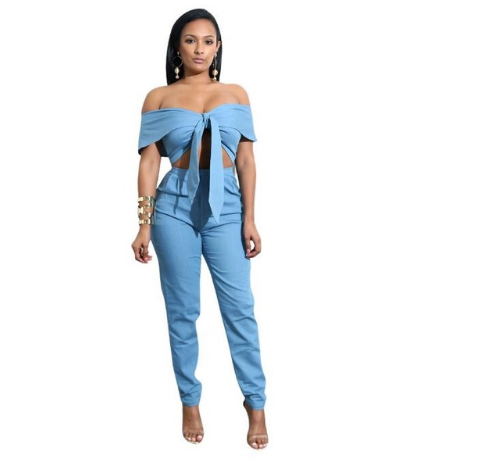 Women Clothing S / Blue SEE Me  Jumpsuits