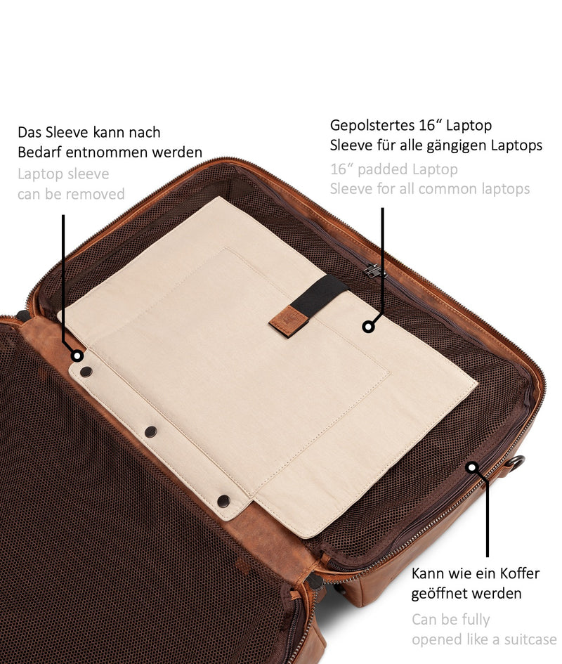 Duffle Bag Kensington Cognac Laptopfach